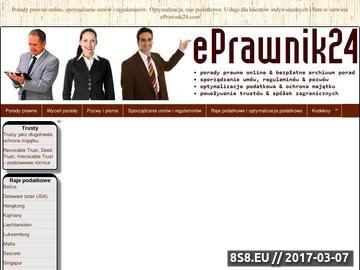 Zrzut strony Porady prawne - ePrawnik24.com