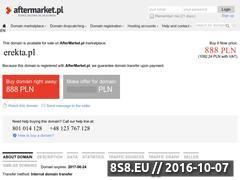 Miniaturka domeny www.erekta.pl