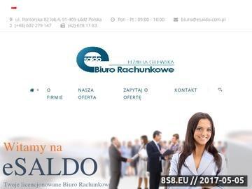 Zrzut strony Biuro rachunkowe eSALDO Łódź