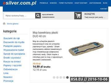 Zrzut strony Profesjonalny sprzęt i wózki do sprzątania dostępne na esilver.com.pl