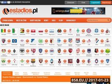 Zrzut strony Meczyki online, mecze live i skróty meczów