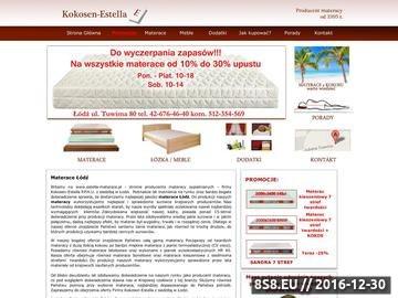 Zrzut strony Firma Kokosen-Estella oferuje różnego rodzaju materace