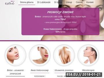 Zrzut strony Szczecińska Klinika Medycyny Estetycznej Esthe-Med