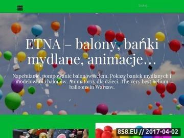 Zrzut strony Baloniki z helem i z dowozem w Warszawie i okolicach
