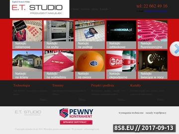 Zrzut strony Producent naklejek et studio