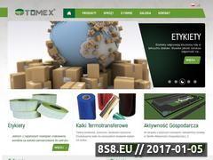 Miniaturka domeny www.etykiety-tomex.pl
