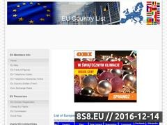 Thumbnail of European Union Countries List Website
