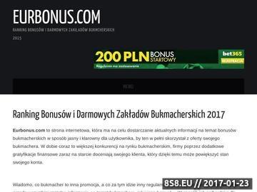 Zrzut strony Bonusy Bukmacherskie - EurBonus