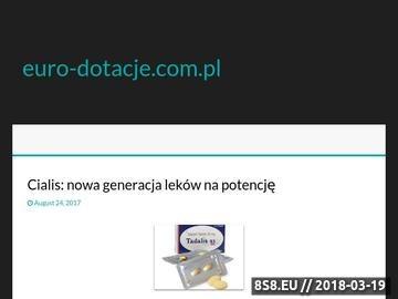Zrzut strony Euro Dotacje - wnioski o dofinansowanie