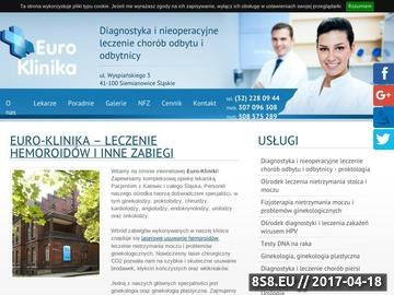 Zrzut strony Euro-Klinika Sp. Z O.O.