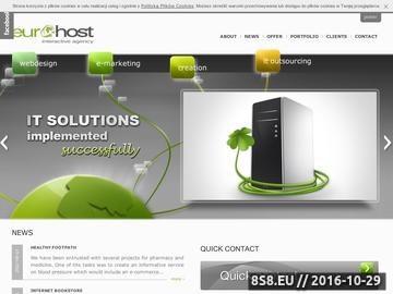 Zrzut strony Agencja interaktywna Eurohost