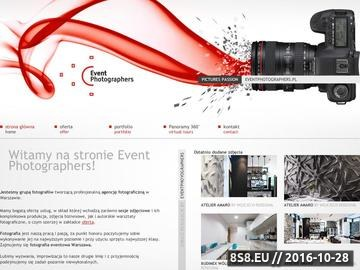 Zrzut strony EventPhotographers.pl Fotograf na ślub, event i każdą okazję