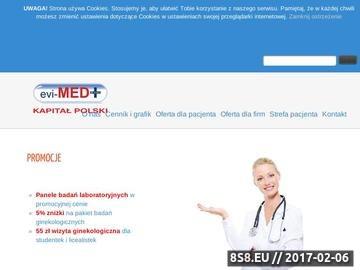 Zrzut strony Klinika Evi-MED