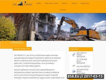 Zrzut strony Realizujemy rozbiórki budynków, wyburzenia i roboty ziemne
