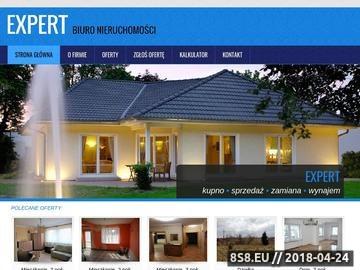 Zrzut strony EXPERT Biuro Handlu i Obrotu Nieruchomościami domy