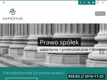 Zrzut strony Kancelaria prawna Katowice