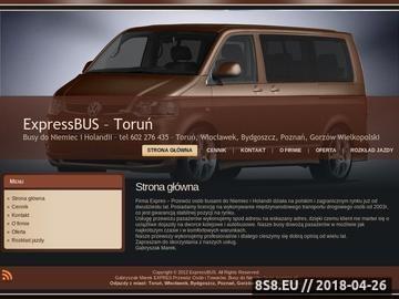 Zrzut strony Przewozy do Niemiec z Torunia
