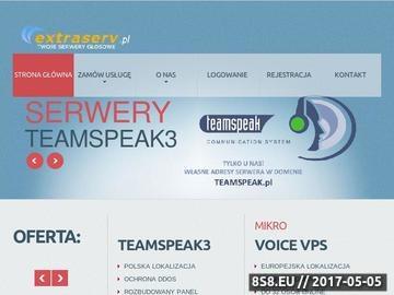 Zrzut strony Serwery gier - Extraserv
