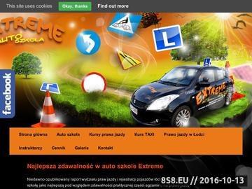 Zrzut strony Kurs prawa jazdy Łódź