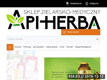 Zrzut strony Internetowy sklep zielarsko medyczny Api-Herba