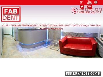 Zrzut strony Fabdent.pl - gabinet stomatologiczny