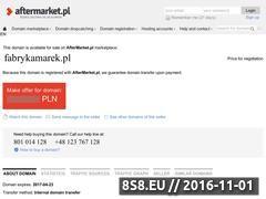 Miniaturka domeny www.fabrykamarek.pl