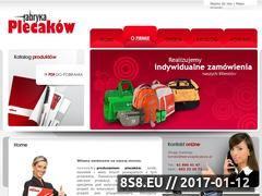 Miniaturka domeny www.fabrykaplecakow.pl