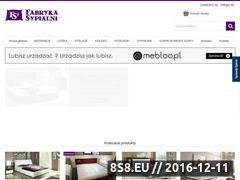 Miniaturka domeny fabrykasypialni.pl