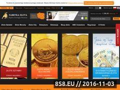 Miniaturka domeny www.fabrykazlota.pl