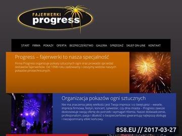 Zrzut strony Fajerwerki. Pokazy sztucznych ogni. Progress Rzeszów