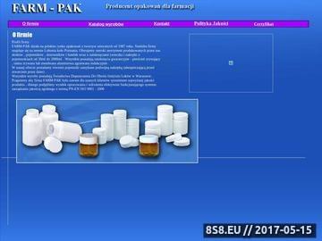 Zrzut strony Pojemniki na leki Farm - Pak