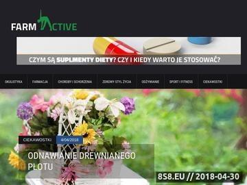 Zrzut strony Farmactive - Marketingowe narzędzia IT dla Aptek
