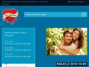 Zrzut strony Fast dating, szybkie randki w Warszawie