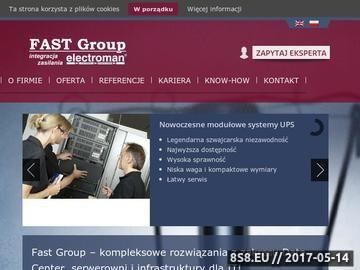 Zrzut strony Zasilacz UPS dla nieprzerwanej pracy Twoich urządzeń dostarcza FAST Group