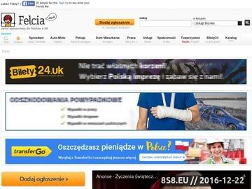 Zrzut strony Portal ogłoszeniowy dla Polaków w UK
