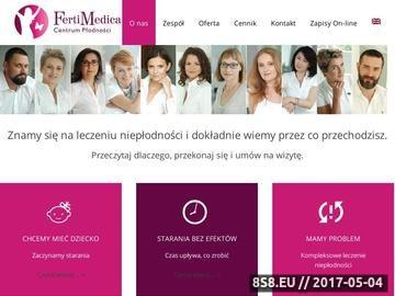 Zrzut strony Fertimedica - leczenie niepłodności