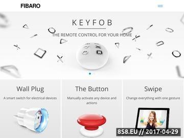 Zrzut strony Fibaro - inteligentny system