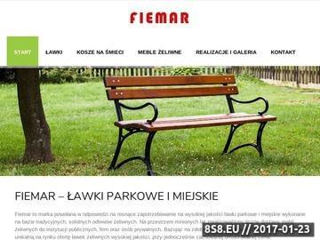 Zrzut strony Fiemar.pl - ławki miejskie