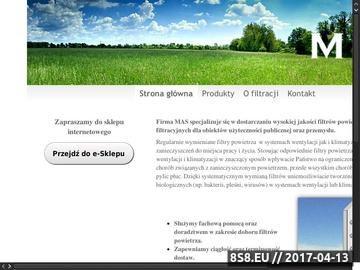 Zrzut strony Filtry powietrza - wentylacja