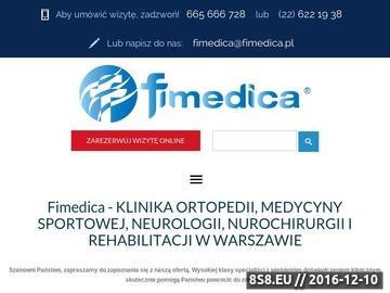 Zrzut strony Ortopedia i Rehabilitacja. Leczenie i rehabilitacja kręgosłupa - Fimedica