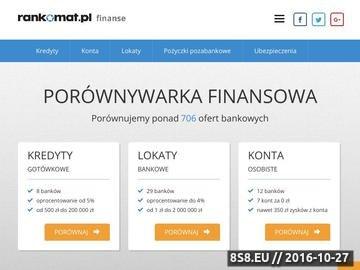 Zrzut strony Porównywarka kont bankowych - Rankomat.pl