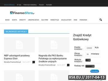 Zrzut strony Kredyty mieszkaniowe - Finansosfera.pl