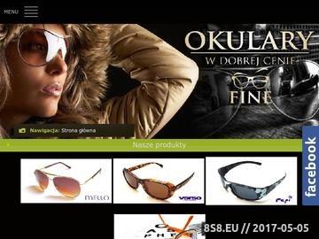 Zrzut strony Okulary przeciwsłoneczne