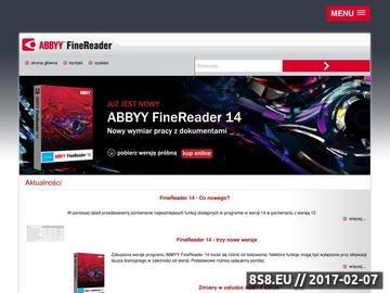 Zrzut strony Oprogramowanie OCR - ABBYY FineReader