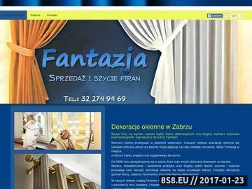 Zrzut strony Sprzedaż zasłon Zabrze - Fantazja