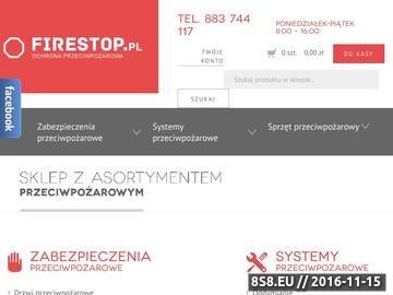 Zrzut strony Ochrona przeciwpożarowa - FireStop.pl