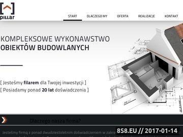 Zrzut strony PILLAR firma remontowo-budowlana, docieplenia Bukowno