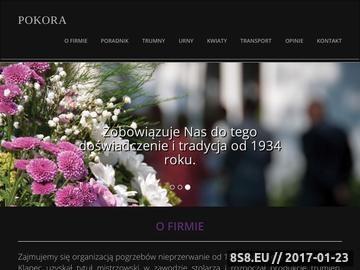 Zrzut strony Usługi pogrzebowe oraz trumny i urny oferuje Pokora Knurów