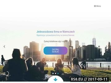 Zrzut strony Firma w Niemczech