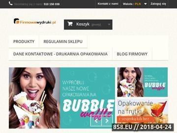 Zrzut strony Drukarnia online - notesy, plakaty, ulotki.